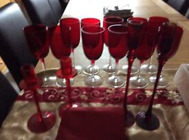 11 red wine glasses ideal colour for xmas