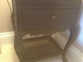 Black French style bedside table