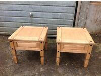 Corona pine lamp tables in good condition