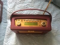 Roberts RD60 dab radio, burgundy, as new, Xmas gift at £80