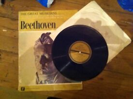LP record: Beethoven from 'The Great Musicians' series