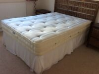 Double bed and base for sale. Sleepeezee Ortho Supreme. Used in spare room so hardly used
