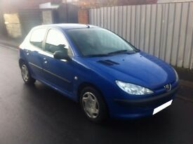 Peugeot 206 1.2 5 Door Hatchback MOT 20/02/2017