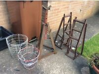 Tractor,wagon,all vehicle axle/transmission stand,car ramps and basket planters