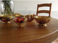 Royal Worcester painted fruit China
