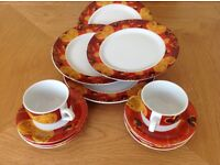 Love Heart Expresso cups & saucers with matching side plates
