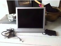 "20"" SHARP AQUOS LCD TV WITH FREEVIEW BOX"