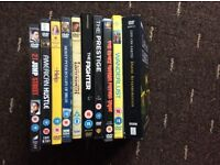 Collection of 10 DVDs American Hustle, 21 Jump Street, Life Of Brian