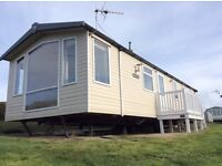 3 bedroom caravan for sale on sea view pitch in Weymouth Dorset
