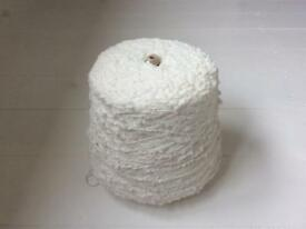 Popcorn knitting yarn ... 844g , cream / Ivory ... mixed blend.