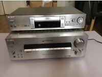 Sony DVP-S725D CD/DVD Player and SONY STR-DB930 FM Stereo/FM-AM Receiver