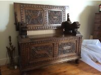 Mock Antique Bench Table