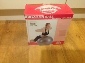 Lonsdale Fitness Yoga Gym Ball - Size 65 with hand pump