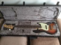FENDER AMERICAN PROFESSIONAL 5 STRING BASS GUITAR with Hard Case.