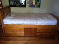 Single Pine Cabin Captain's bed - can deliver locally