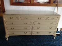Substantial reproduction chest of drawers (matches Cheval mirror listed separately)