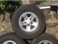 Landrover defender 90 wheels and tyres