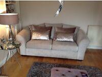 Next Camilo Linen couches 3 & 2 seater