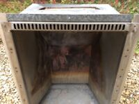 Convector box for open fire