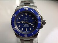 Rolex- submariner – Blue face – all steel cheapest one on gumtree