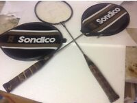 Pair of good quality badminton rackets