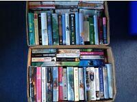 158 books, hardback, softback, text, military, romance, cookery