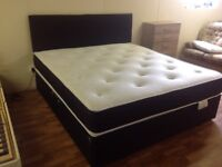 5 FT KINGSIZE BED WITH ORTHO MATTRESS AND HB