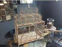 Large White Metal Birdcage Pet Cage