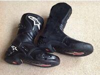 Alpinestars SMX 4 Motorcycle boots. Size 9 uk - 43 eu