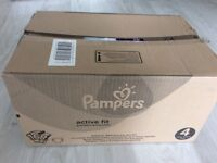 Pampers active fit size 4 nappies (168)