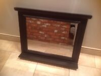 Black wooden surround mirror from John Lewis.
