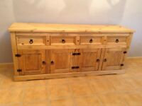 4 door 4 drawer Mexican pine sideboard