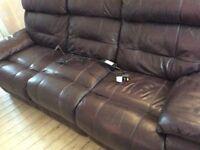 3&2 seater electric Italian leather sofas