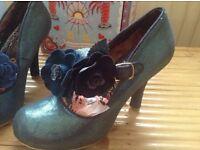 New with box Blue Aurora irregular choice shoes size 40