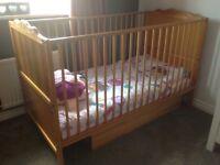 Mamas and Papas Wooden Cot Bed