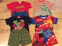 Boys summer Pyjamas age 3-4 year old x8 items in excellent condition.