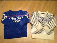 Warm jumpers and a coat bundle for 2-3 years old boy