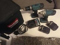 Makita combi drill and impact driver set