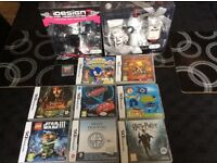 Items for sale, DS games, headphones and perfume set