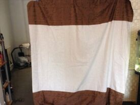 Brown and cream curtains