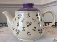 Sadler Springtime Bone China Tea Pot. Lilac Floral