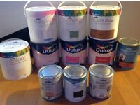 New paint - assortment of colours, brands and finishes - £5 per can
