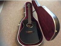 Yamaha apx500 electro acoustic guitar + Hiscox liteflite hardcase