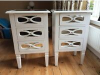 PAIR OF NEW WHITE BEDSIDE CHESTS