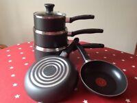 Tefal Essential 5 Piece Non-Stick Cookware Pan Set: Brand new.