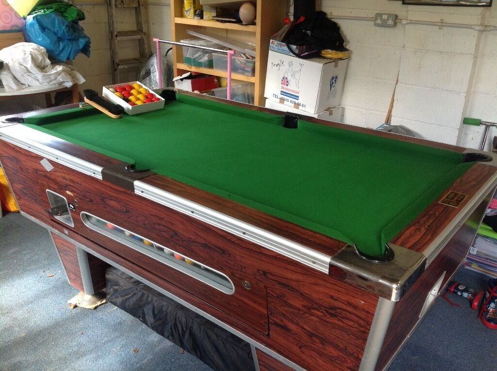 Pool table coin operated 6ft x ex pub in for Pool table 6 x 3