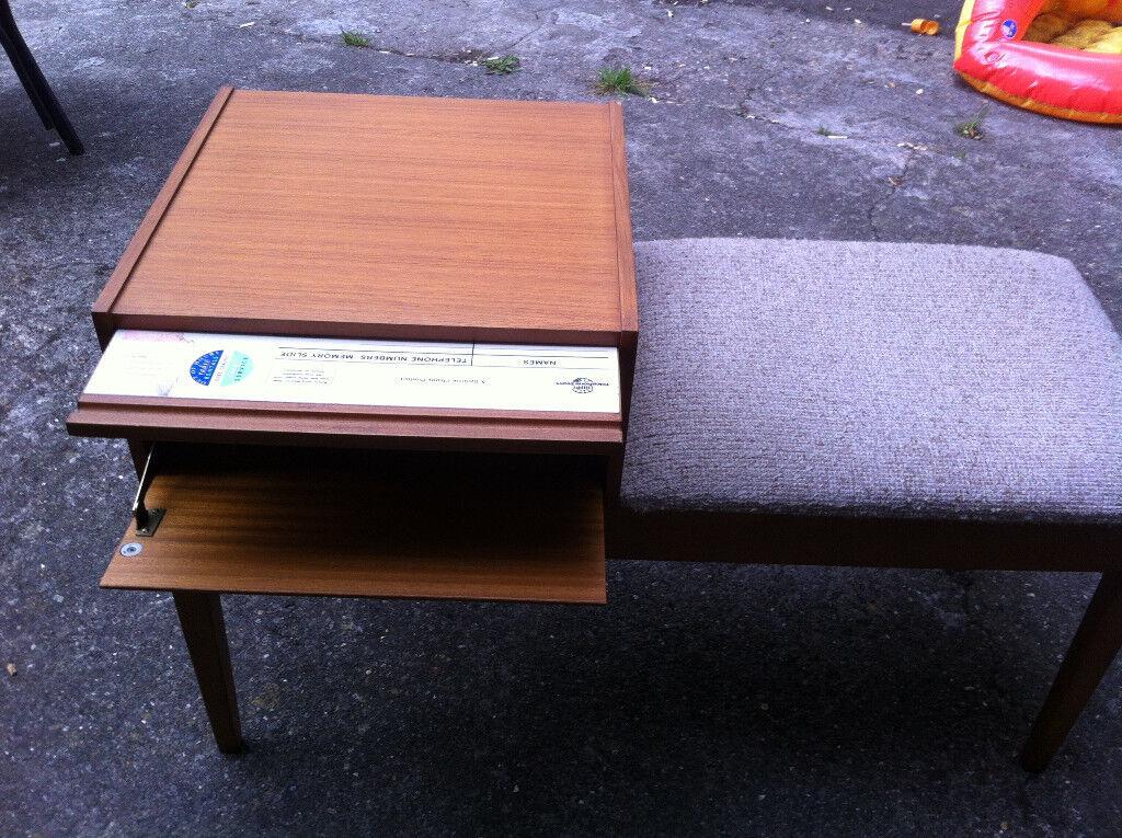 Vintage 70s Genuine Mr Chippys Telephone table.