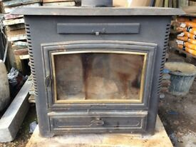 Arrow wood burning stove