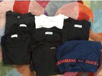 A bundle of plain designer tshirts plus swimming trunks