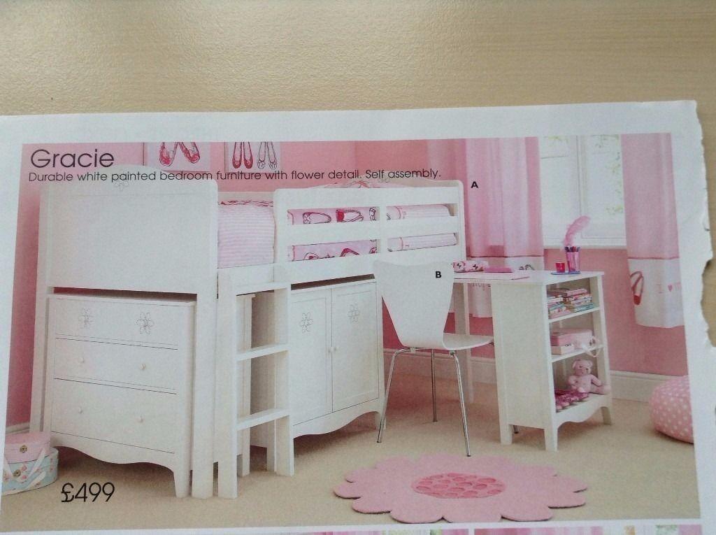 S Next White Gracie Cabin Bed With Storage Wardrobe
